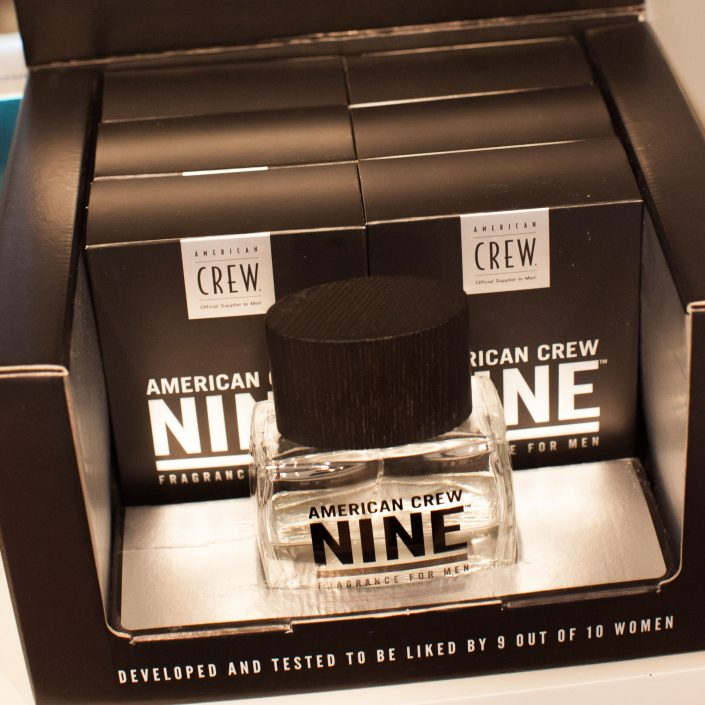 Vincents Den for Mens Haircut Mens Hair Stylist Kingsway Etobicoke American Crew Cologne Bottles in boxes