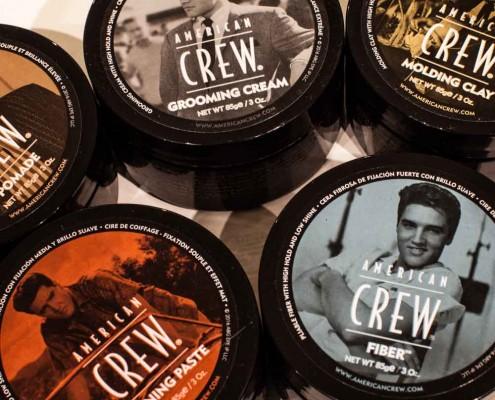 Vincents Den for Mens Haircut Mens Hair Stylist Kingsway Etobicoke American Crew Jars
